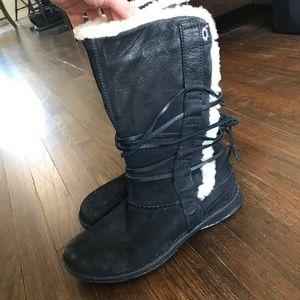 Black Suede UGG Boots